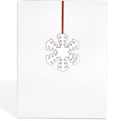 Silver 'Disco' Snowflake Decoration Card
