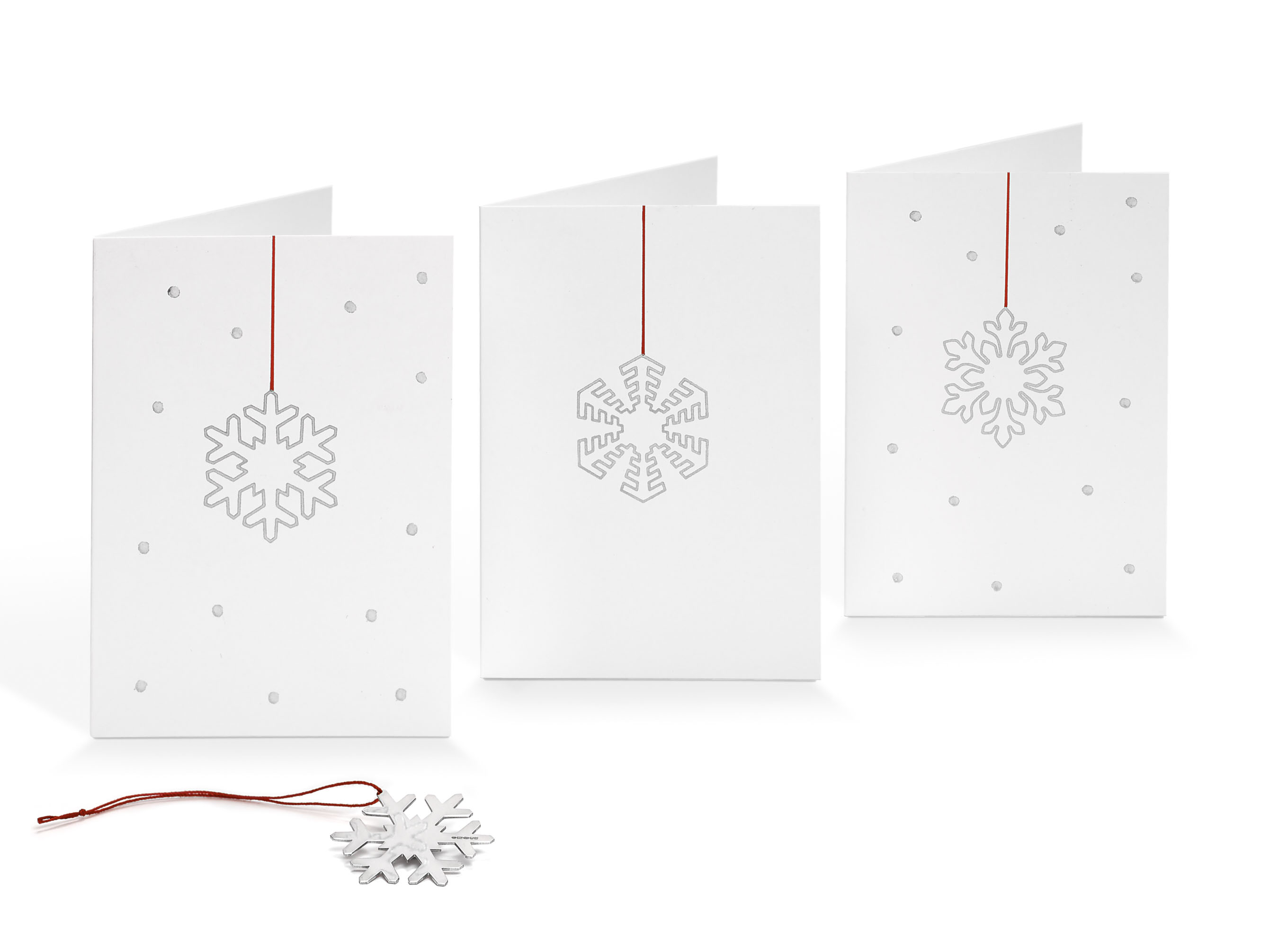 Printed Silver Cards with Removed Silver Decoration