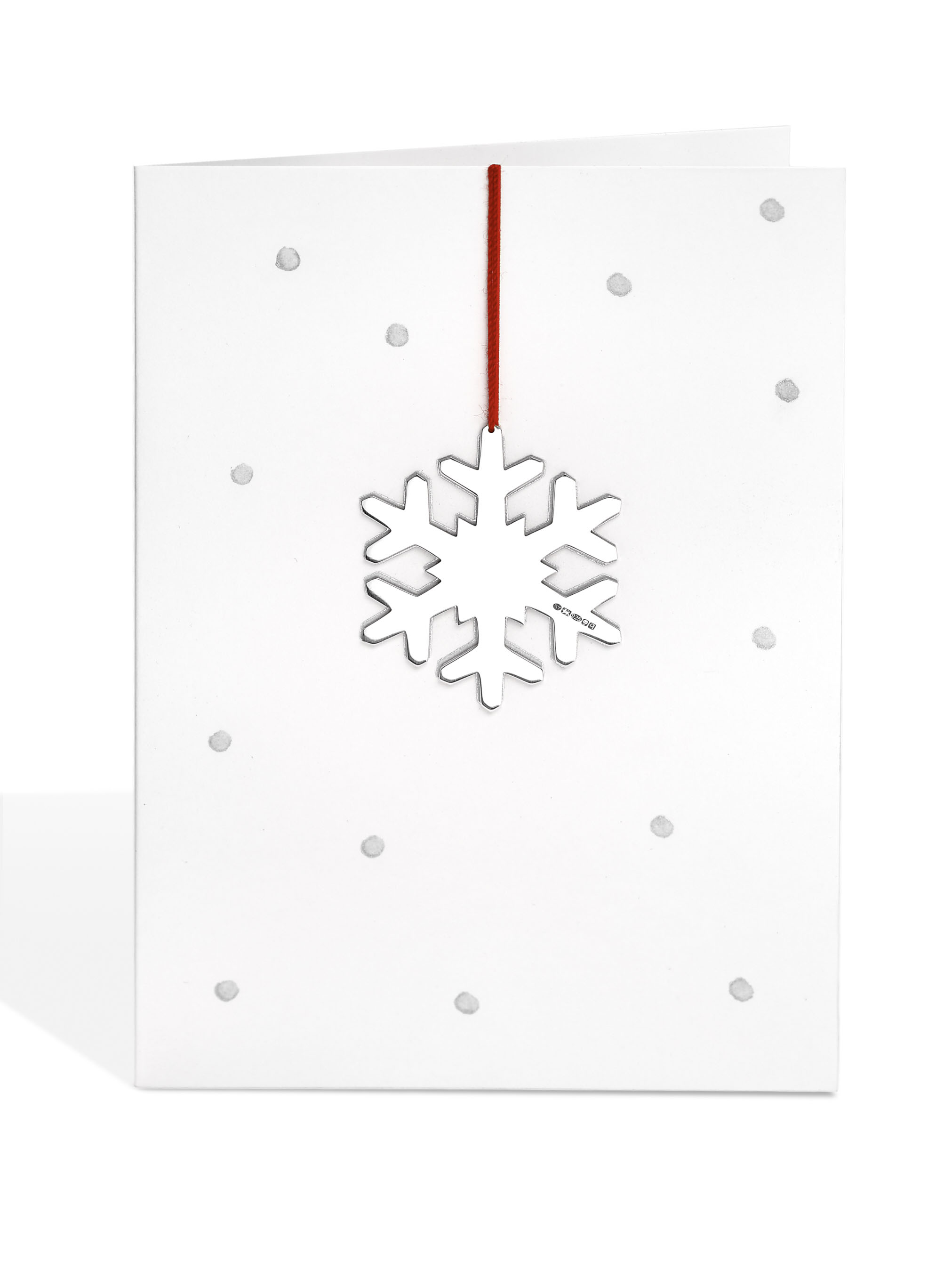 Snowflake Decoration on Dotty Card
