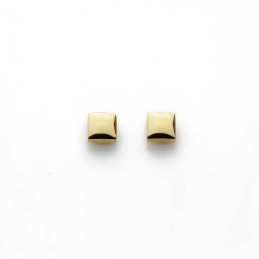 Square-18ct-gold-plated-polished-mini-studs