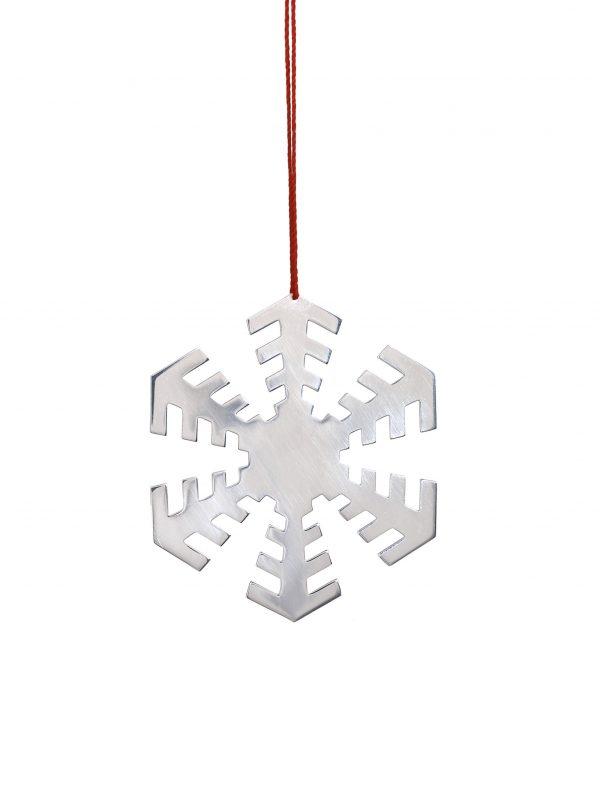 Silver 'Disco' Snowflake Decoration