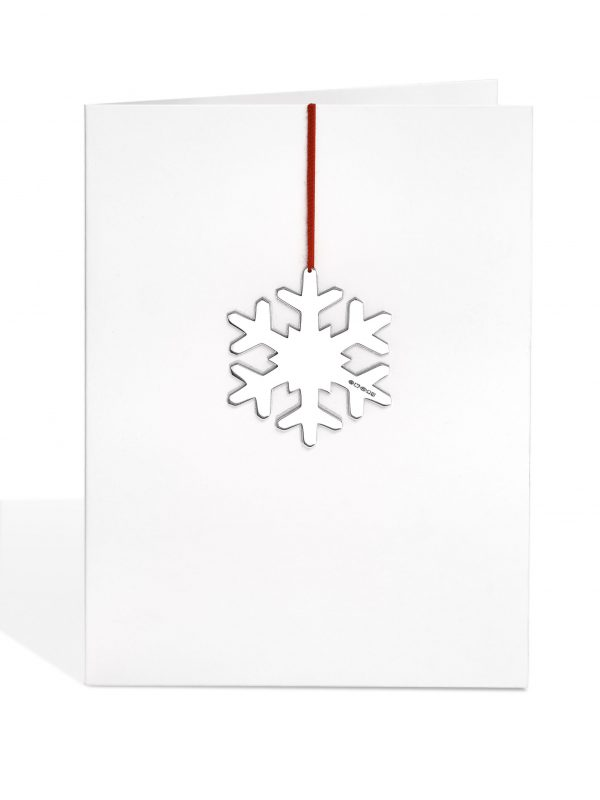 Silver Snowflake Decoration Card