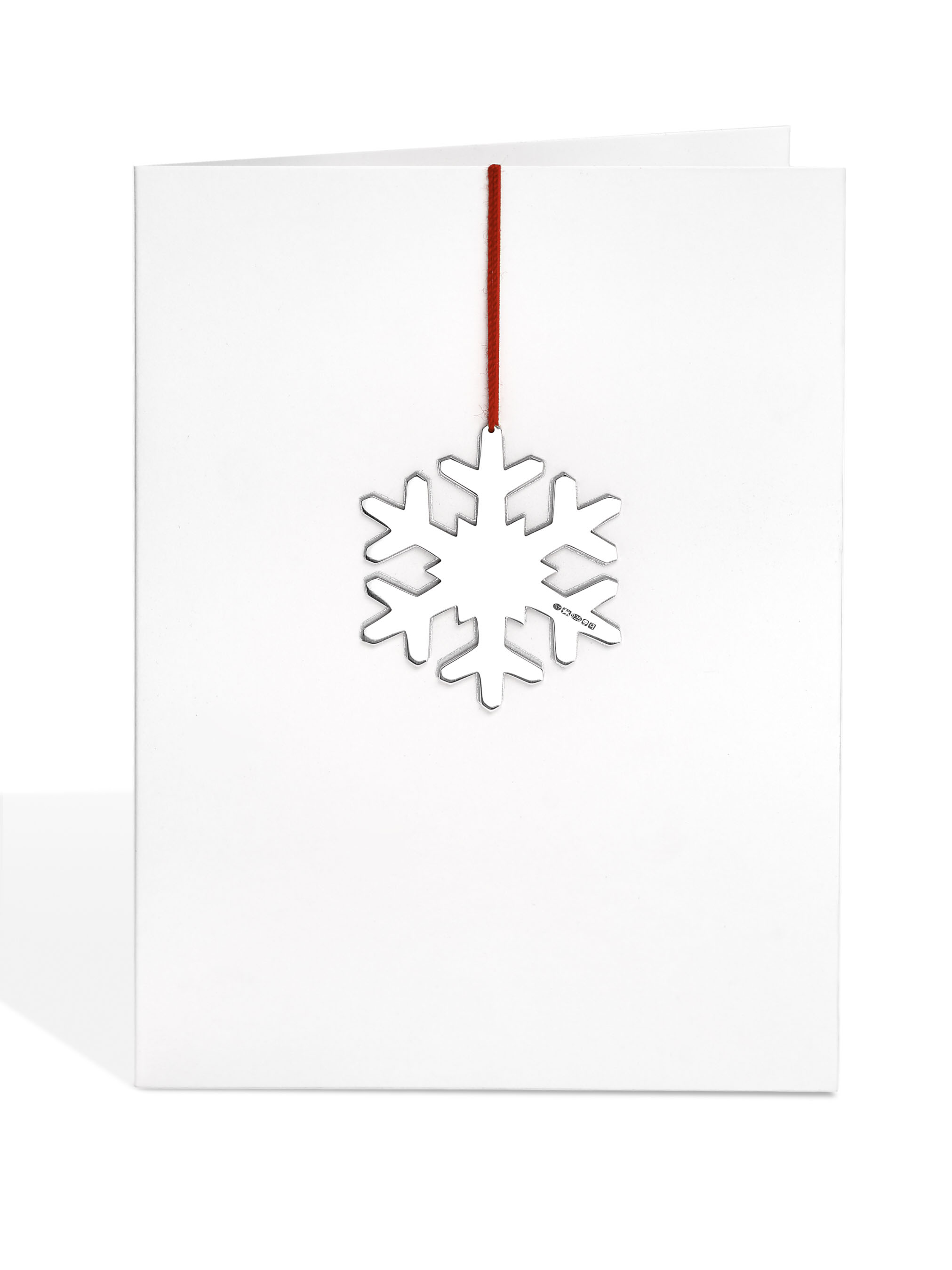 Silver Snowflake Decoration Card
