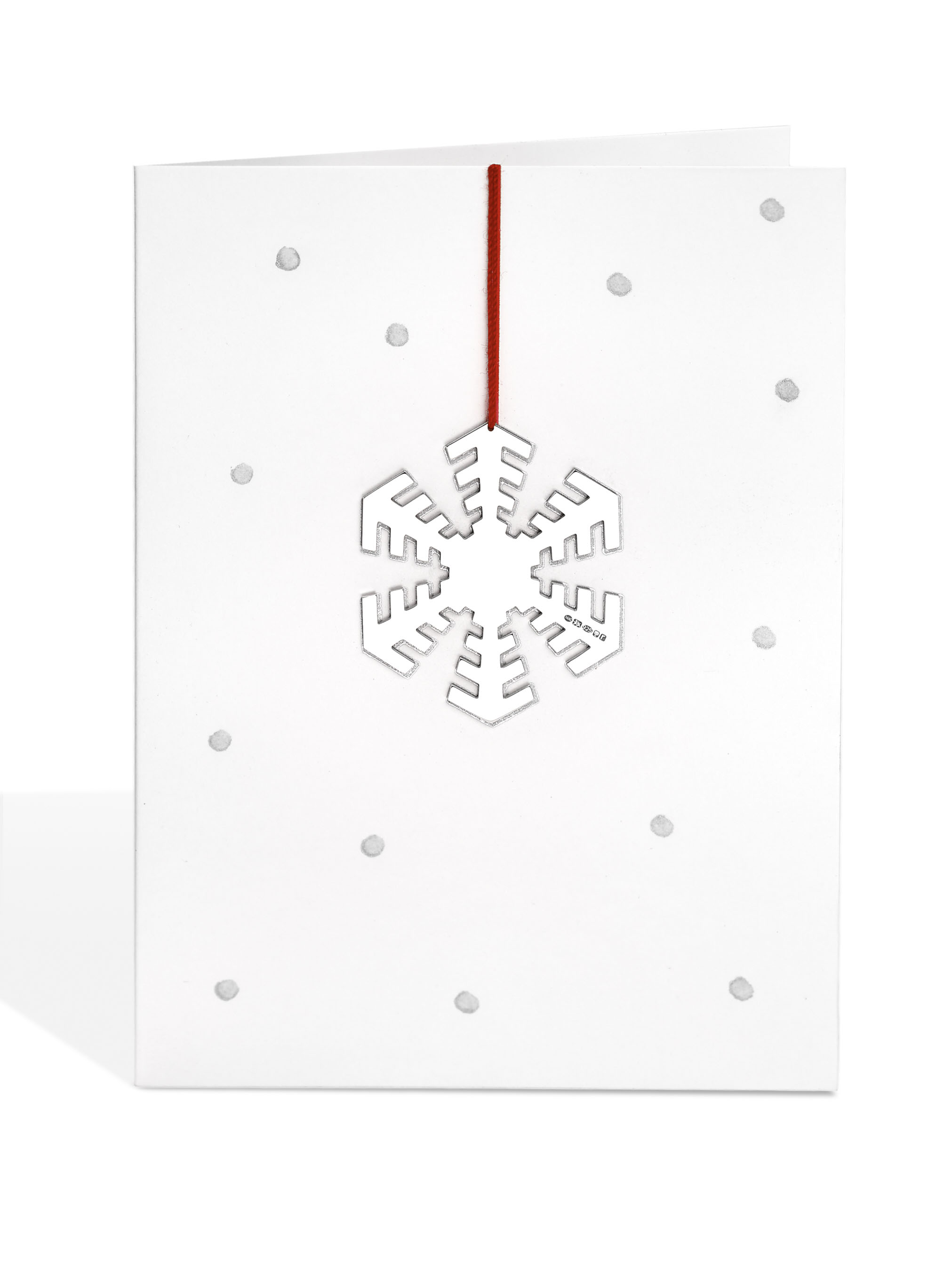 Silver 'Disco' Snowflake Decoration on Dotty Card